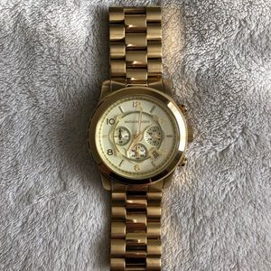 Michael Kors Runway Gold Watch